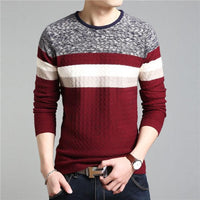 West Louis™ O Neck Striped Pullover Red / S - West Louis