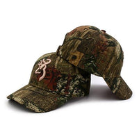 West Louis™ Browning Camo Baseball Cap Brown / One Size Fits All - West Louis