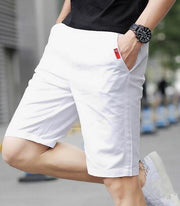 West Louis™ Knee-Length Men's Casual Capris Short White / M - West Louis