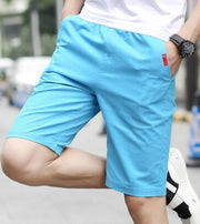 West Louis™ Knee-Length Men's Casual Capris Short Sky Blue / M - West Louis
