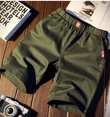 West Louis™ Knee-Length Men's Casual Capris Short Green / M - West Louis