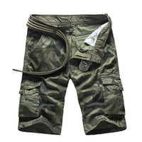 West Louis™ Camo Cargo Shorts Green / 29 - West Louis