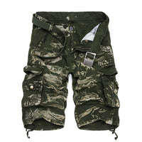 West Louis™ Camo Cargo Shorts Green2 / 29 - West Louis