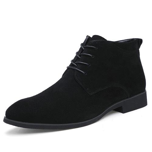 West Louis™ Genuine Ankle Boots Breathable High Top Shoes Black / 6.5 - West Louis