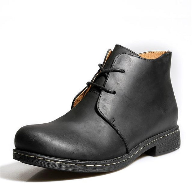West Louis™ Lace-Up Men Outdoor Desert Boots Black / 6 - West Louis