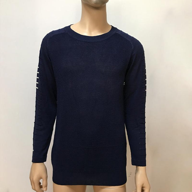 West Louis™  Round Neck Patchwork Quality Knitted Pullover  - West Louis