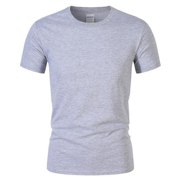 West Louis™ Summer High Quality Cotton T-Shirt Gray / S - West Louis