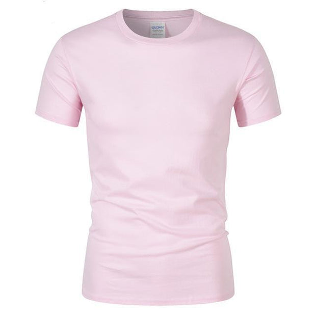 West Louis™ Summer High Quality Cotton T-Shirt Pink / S - West Louis