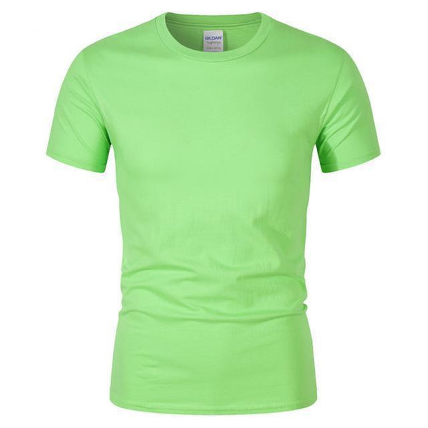 West Louis™ Summer High Quality Cotton T-Shirt Light Green / S - West Louis