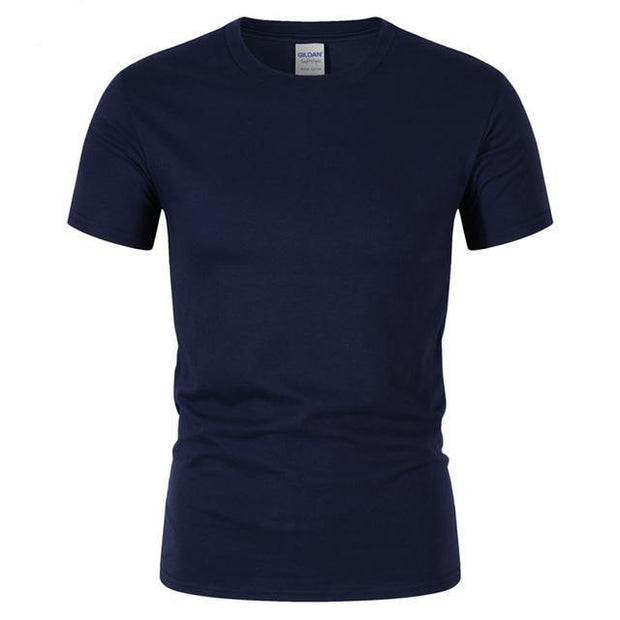 West Louis™ Summer High Quality Cotton T-Shirt Navy / S - West Louis