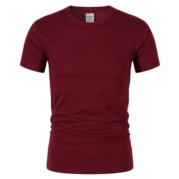 West Louis™ Summer High Quality Cotton T-Shirt Wine Red / S - West Louis