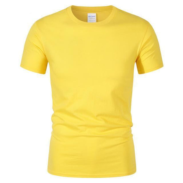 West Louis™ Summer High Quality Cotton T-Shirt Yellow / S - West Louis