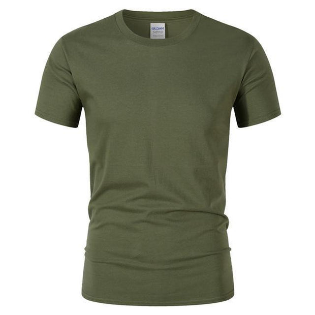 West Louis™ Summer High Quality Cotton T-Shirt Army Green / S - West Louis