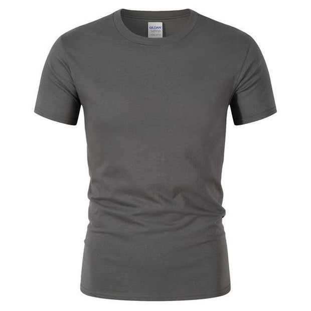 West Louis™ Summer High Quality Cotton T-Shirt Dark Grey / S - West Louis