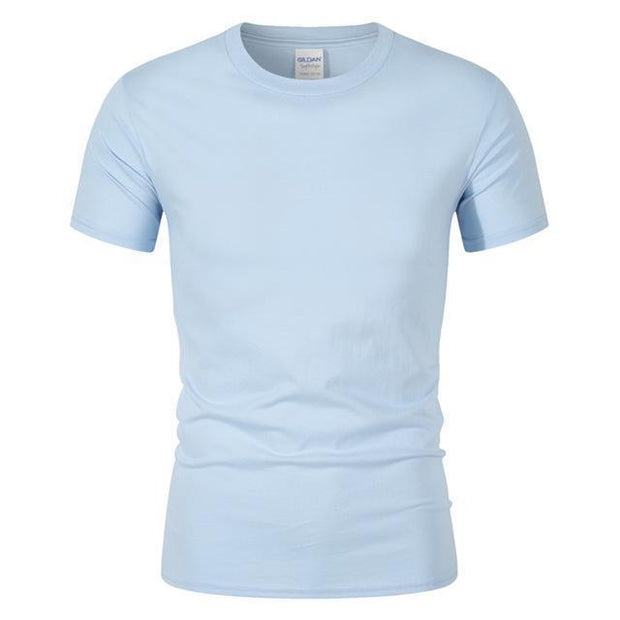 West Louis™ Summer High Quality Cotton T-Shirt Light Blue / S - West Louis