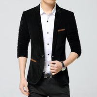 West Louis™ Business Autumn Linen Blazer Black / M - West Louis
