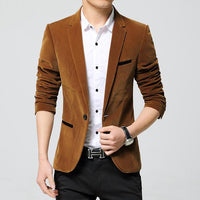 West Louis™ Business Autumn Linen Blazer Khaki / M - West Louis