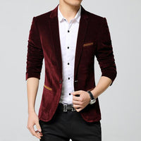 West Louis™ Business Autumn Linen Blazer RedWine / M - West Louis