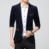 West Louis™ Business Autumn Linen Blazer Navy / M - West Louis