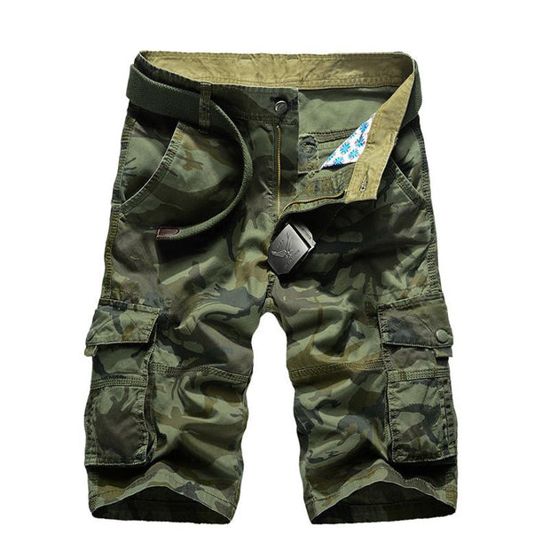 West Louis™ Camouflage Cargo Shorts Army Green / 34 - West Louis