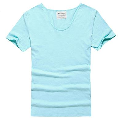 West Louis™ Cotton Bamboo Short Sleeve Tee Light Blue / S - West Louis