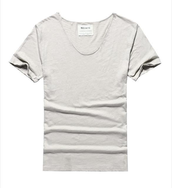 West Louis™ Cotton Bamboo Short Sleeve Tee light grey / S - West Louis
