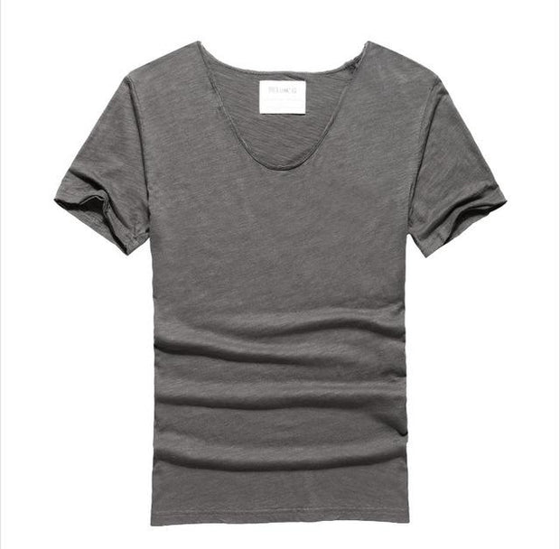 West Louis™ Cotton Bamboo Short Sleeve Tee Dark Grey / S - West Louis