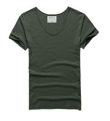 West Louis™ Cotton Bamboo Short Sleeve Tee Army Green / S - West Louis