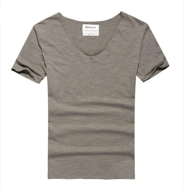 West Louis™ Cotton Bamboo Short Sleeve Tee Khaki / S - West Louis
