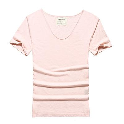 West Louis™ Cotton Bamboo Short Sleeve Tee Pink / S - West Louis