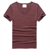 West Louis™ Cotton Bamboo Short Sleeve Tee red wine / S - West Louis