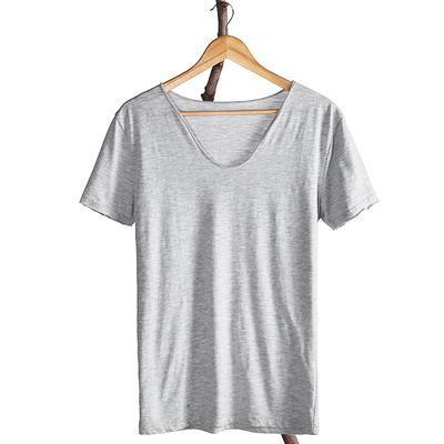 West Louis™ Cotton Bamboo Short Sleeve Tee Grey / S - West Louis