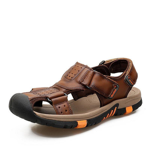 West Louis™ Genuine Leather Sandals  - West Louis