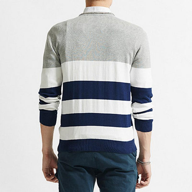 West Louis™ Casual Striped Fashion Pullover  - West Louis