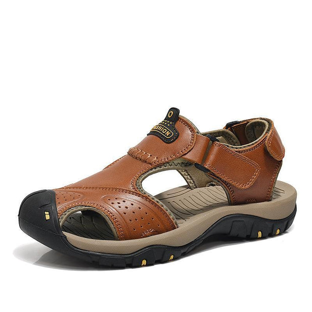 West Louis™ Genuine Leather Summer Sandals  - West Louis