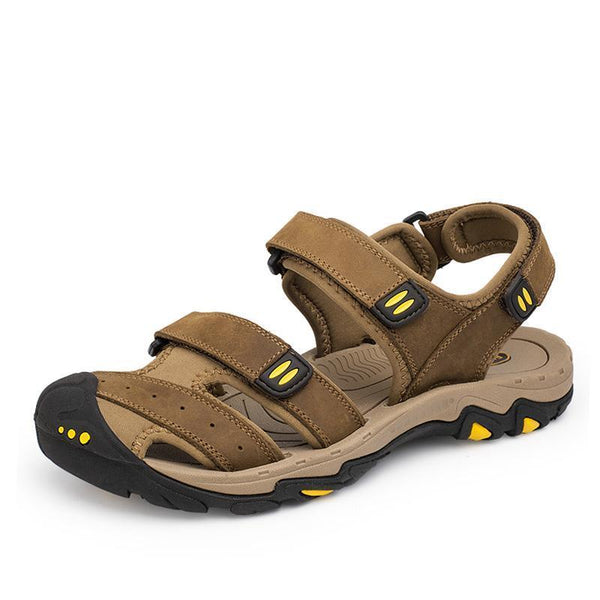 West Louis™Cow Leather Men Sandals  - West Louis