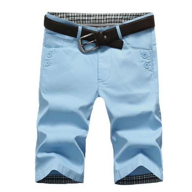 West Louis™ Summer Fashion Cotton Shorts Light blue / 28 - West Louis