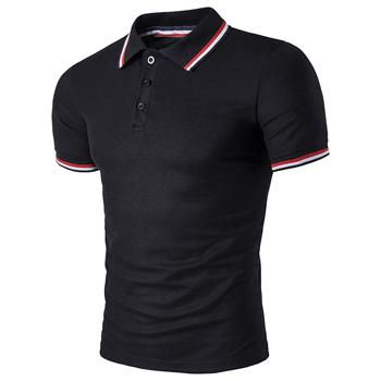 West Louis™ Summer Short Sleeved Polo Shirt Black / L - West Louis