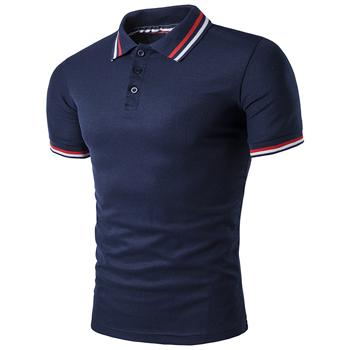 West Louis™ Summer Short Sleeved Polo Shirt Navy / L - West Louis