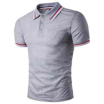 West Louis™ Summer Short Sleeved Polo Shirt Grey / L - West Louis
