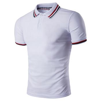 West Louis™ Summer Short Sleeved Polo Shirt White / L - West Louis