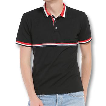 West Louis™ Summer Turn Down Collar Polo Shirt Black / L - West Louis