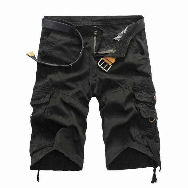 West Louis™ Summer Camouflage Millitary Shorts Black / 34 - West Louis