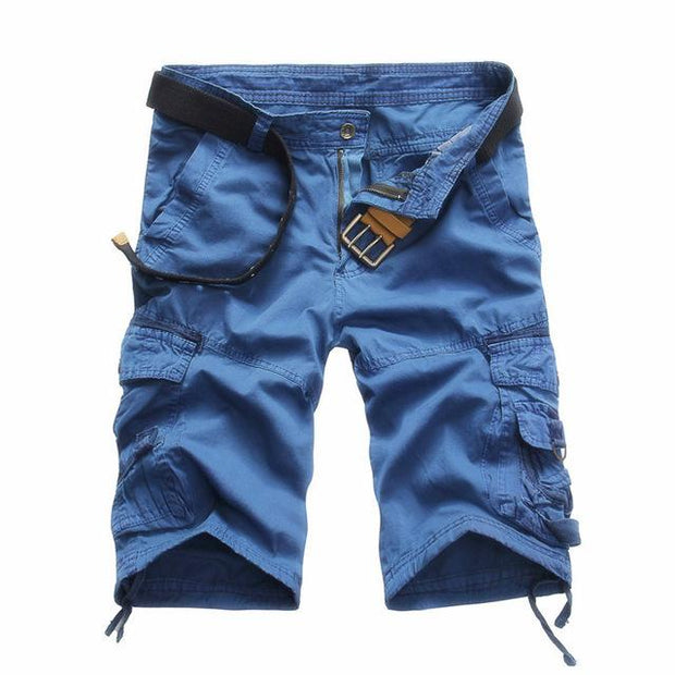 West Louis™ Summer Camouflage Millitary Shorts Blue / 34 - West Louis
