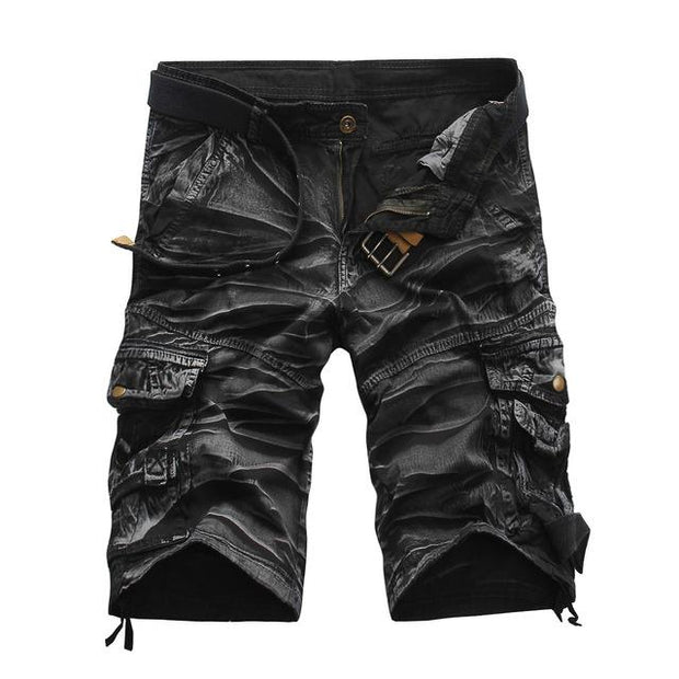 West Louis™ Summer Camouflage Millitary Shorts Black2 / 34 - West Louis
