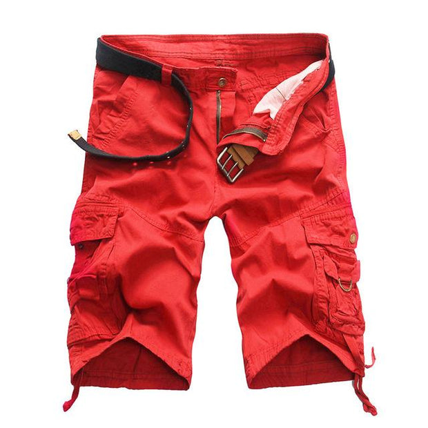 West Louis™ Summer Camouflage Millitary Shorts Red / 34 - West Louis