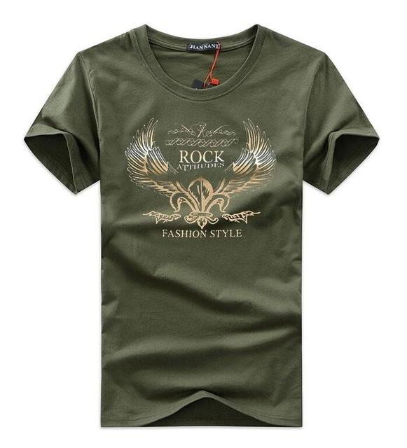 West Louis™ Golden Wings T-shirt Army Green / S - West Louis