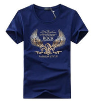 West Louis™ Golden Wings T-shirt Navy Blue / S - West Louis