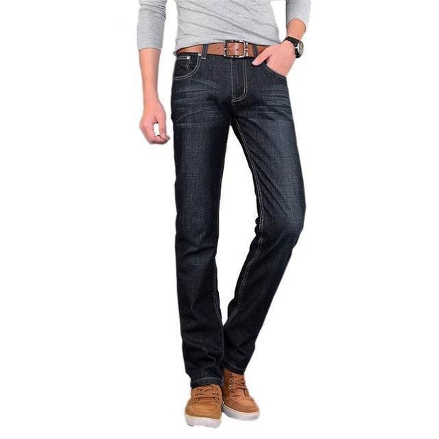 West Louis™ High Quality Classical Slim Jeans dark blue / 28 - West Louis