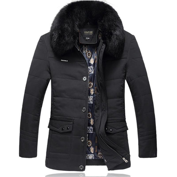 West Louis™ Thick High Quality Down Cotton Fur Jacket